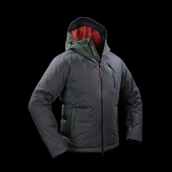 giacca uomo in piuma jaam lana flanella grigia cordura verde samoa 2 front