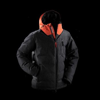 giacca uomo piuma jaam cordura arancione lana quadretto grigio samoa 3 front