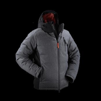 giacca uomo piuma jaam lana flanella grigia cordura nera samoa 2 front