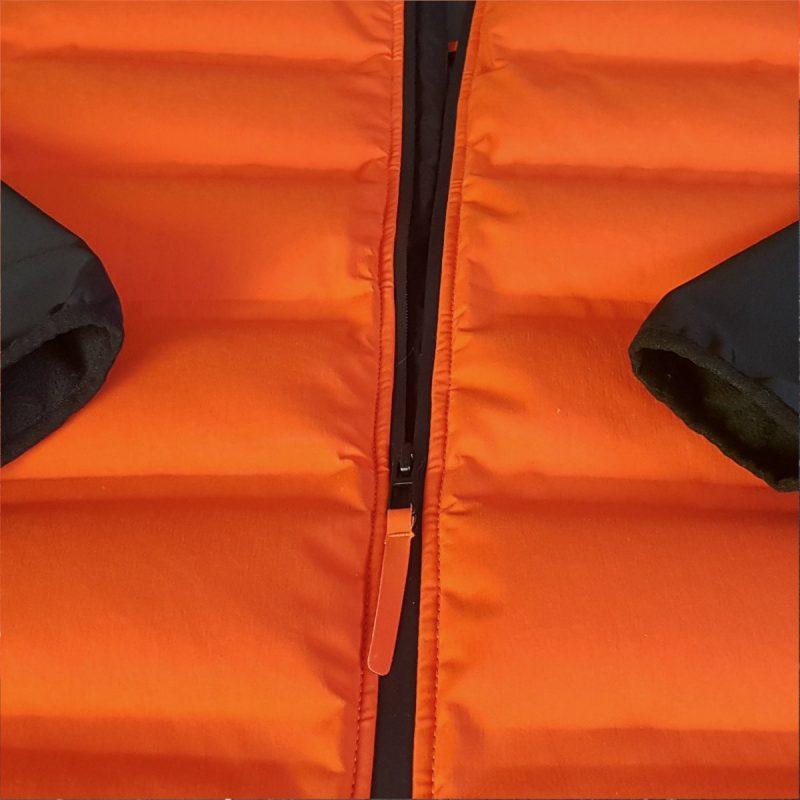 giacca-piuma-cordura-arancione-dettaglio-formentera-jaam-3