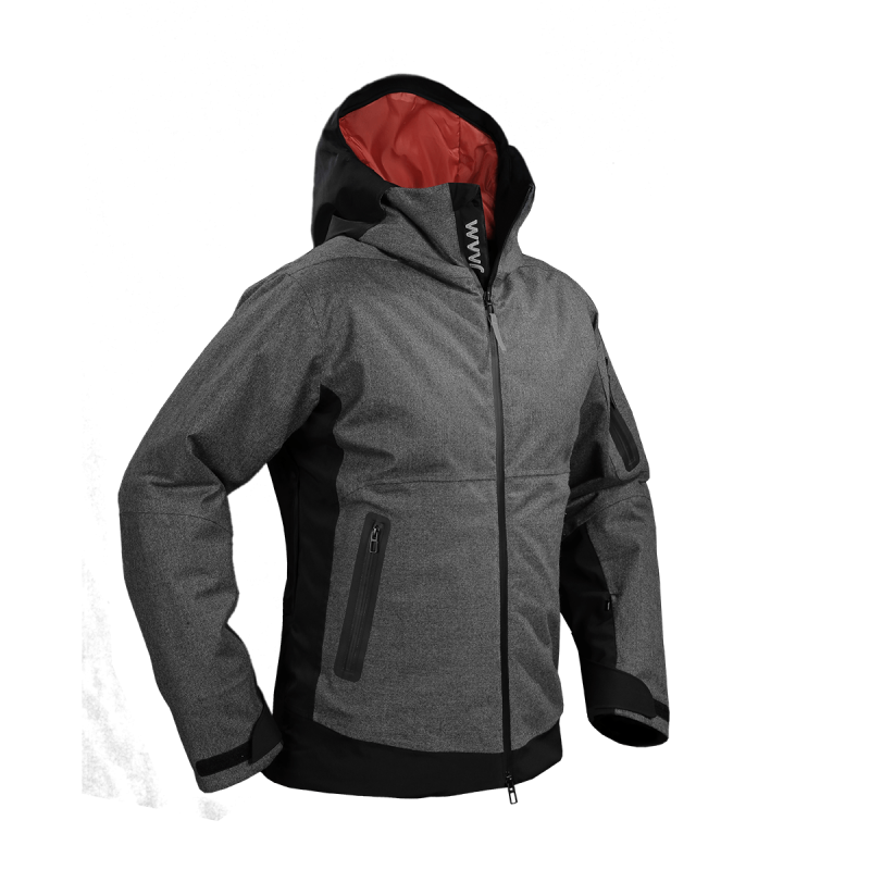 giacca snow jaam flanella lana cordura nera papete front
