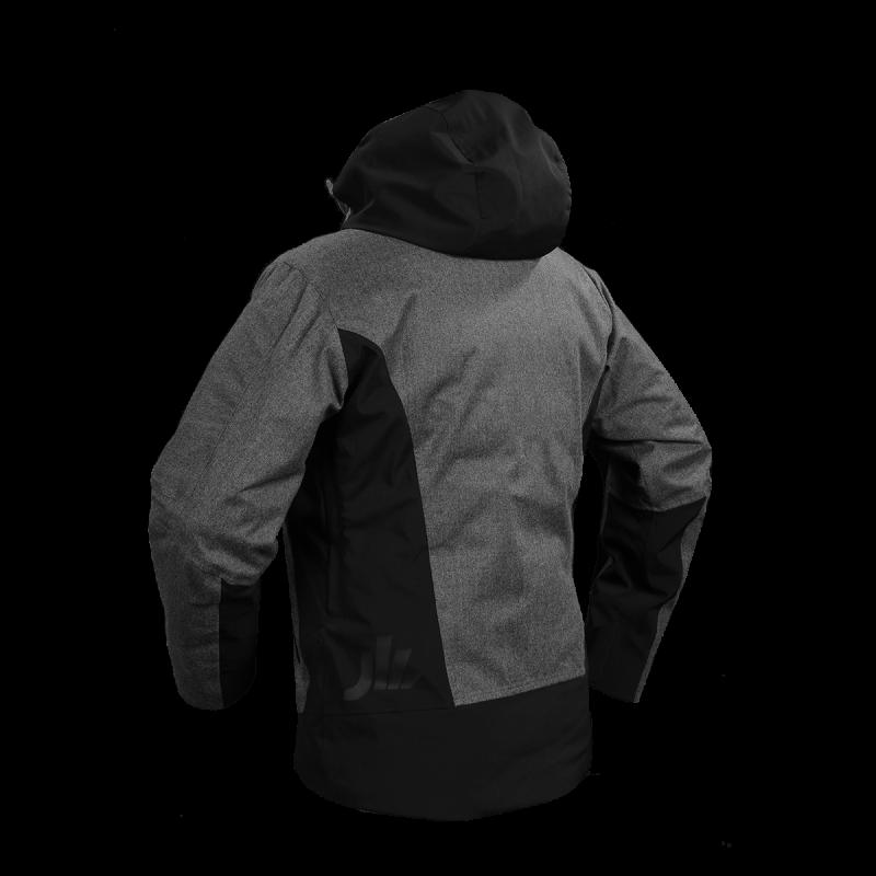 giacca snow jaam flanella lana cordura nera papete back