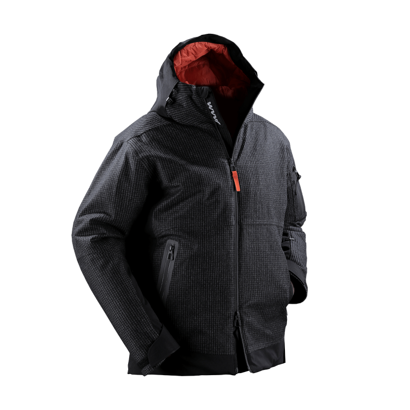 giacca snow jaam lana quadretto cordura nera papete 1 front