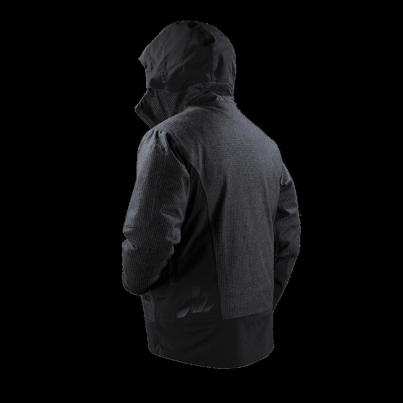 giacca snow jaam lana quadretto cordura nera papete 1 back