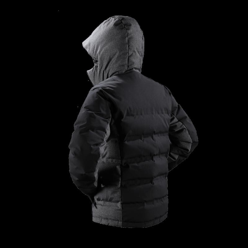 giacca uomo piuma jaam cordura nero lana quadretto grigio samoa 1 back